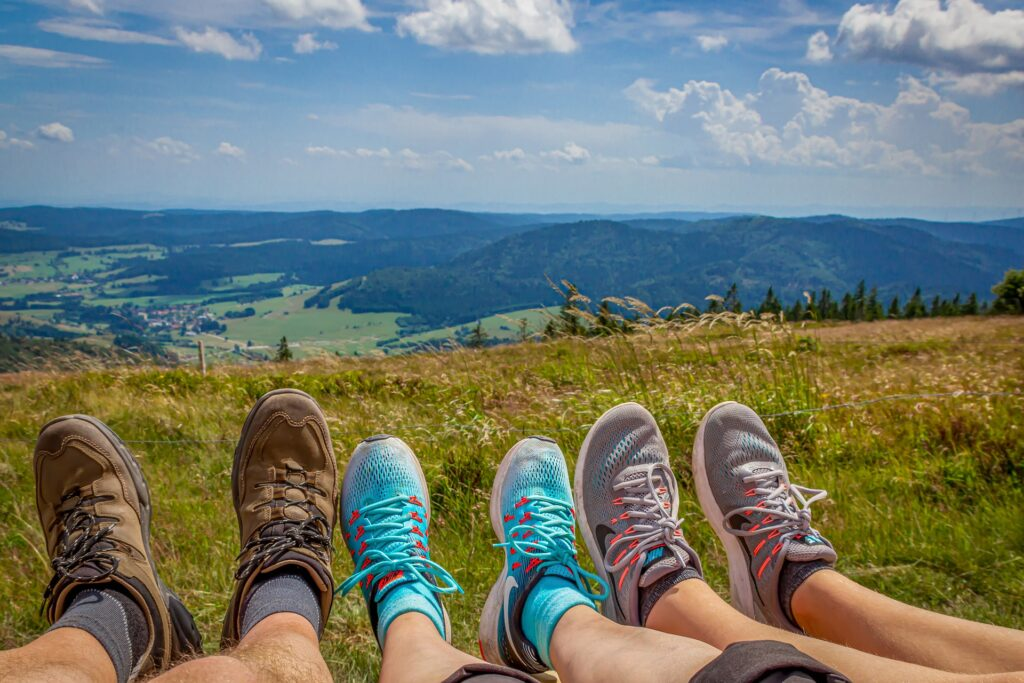 Trekking o hiking con la famiglia