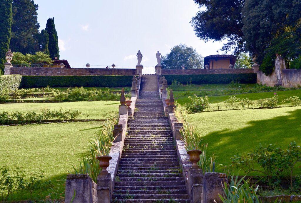 La scalinata di Giardino Bardini