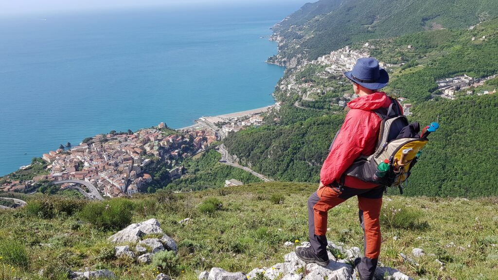 Monte San Liberatore con la vista di Vietri sul mare