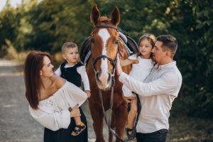 Passeggiata a cavallo adatta a tutta la famiglia