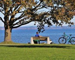 Tour in bici sul Lago di Como con iPad Experience
