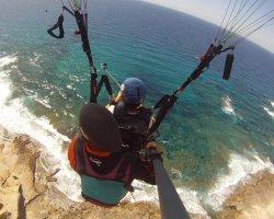 Lancio in tandem a Castelsardo in Sardegna
