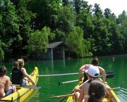 Escursione in canoa sul lago di Pusiano