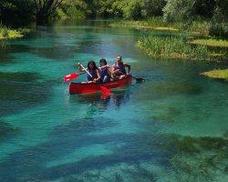 Escursione in canoa nel Parco del Gran Sasso in  Abruzzo