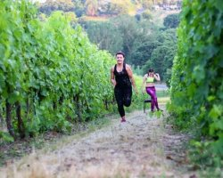 Fitness e degustazione di vini Montepulciano